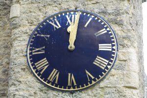 The simple and clear clock face